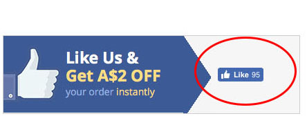 FB Like $2 discount instruction
